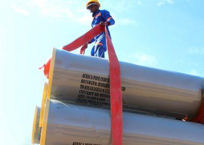 Botswana's 100km Pipe line project