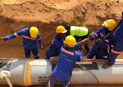 Botswana 100km project pipe laying