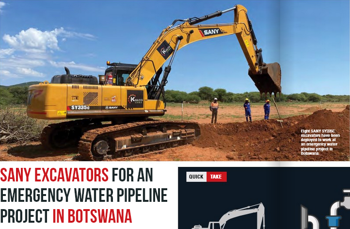 Sony Excavators for the Botswana 100km pipeline project